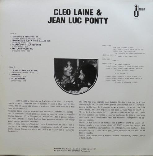 cleo laine & jean luc pnty lp imagem jazz blues