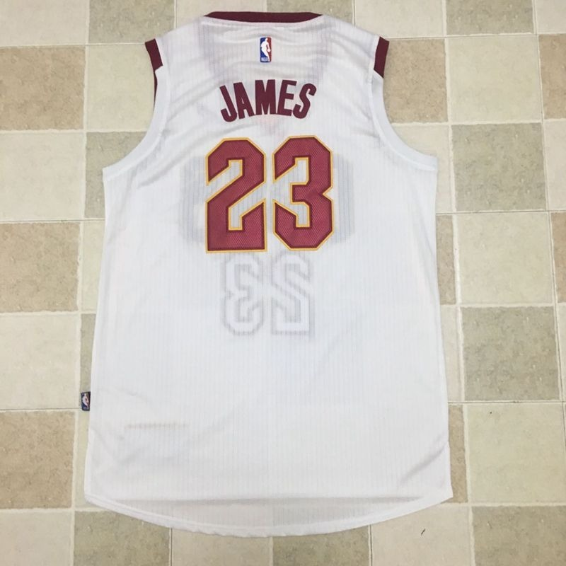 best cheap f90db 338ff Cleveland Cavaliers Lebron James Jersey Nba Blanca 2018