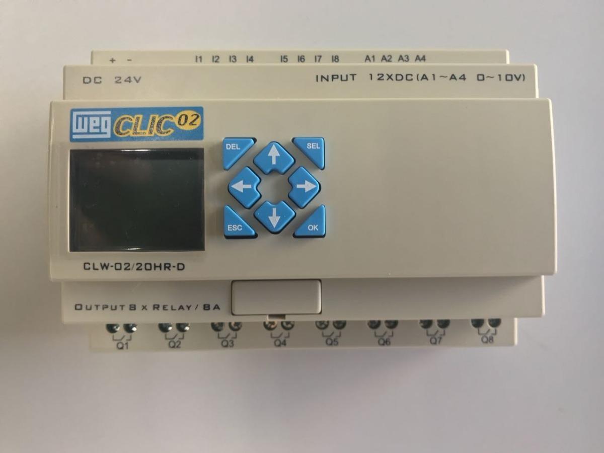 3fc7282c8f8 clic relé programável weg modelo clw-02 20hr-d 3rd. Carregando zoom.