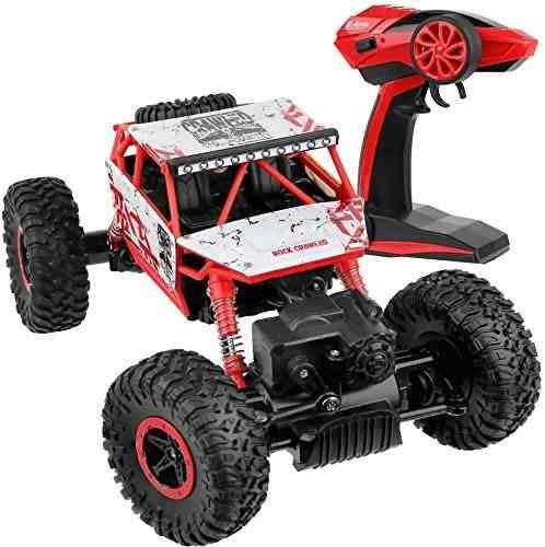 click n jugar rock crawler rc coche rojo vehículo