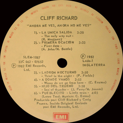 cliff richard - now you see me... now you don´t
