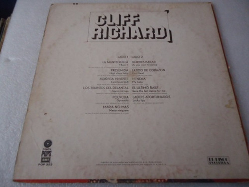 cliff richard / rock n roll vinyl lp acetato