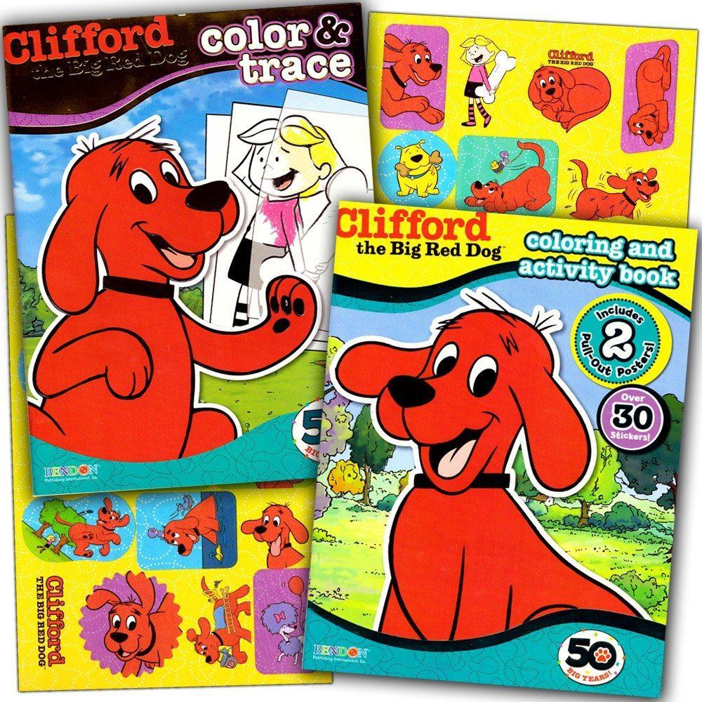 Excepcional La Página Para Colorear De Clifford The Big Red Dog ...