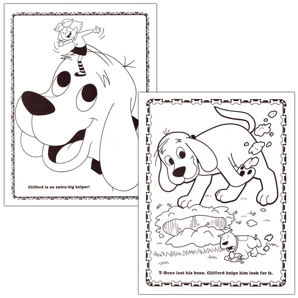 Atractivo Clifford Para Colorear Viñeta - Dibujos Para Colorear En ...
