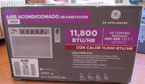 clima de ventana ge 11,800 btu/hr frio/calor 220v