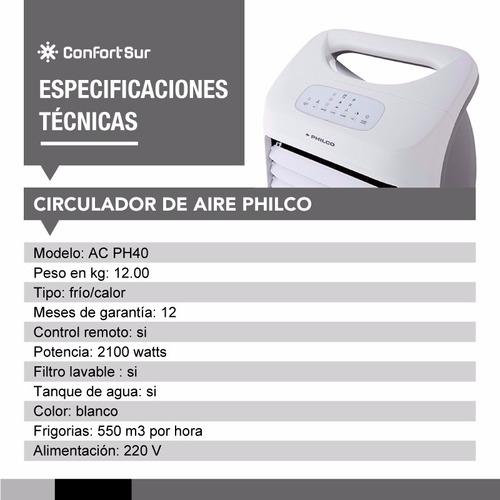 climatizador de aire portatil frio/calor philco ac-ph40 *