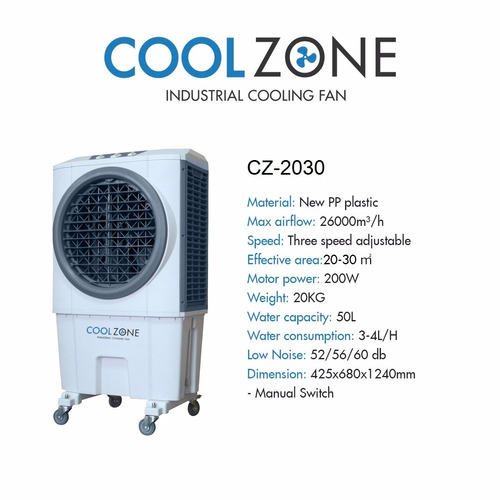 climatizador evaporativo cz-2030 marca cool zone