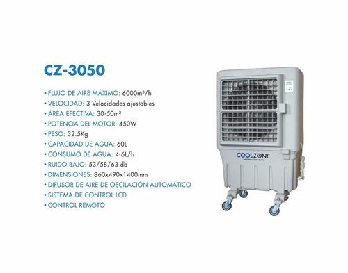 climatizador evaporativo cz-3050  marca cool zone