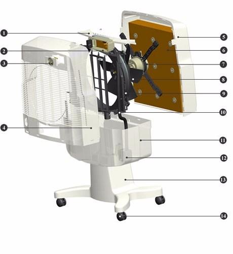 Climatizador evaporativo port til 220v top de linha r 1 - Climatizador evaporativo portatil ...