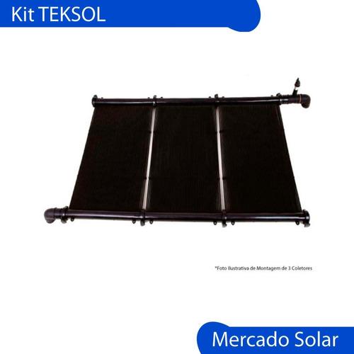 climatizador piscinas solar completo kit piletas 24m2 teksol