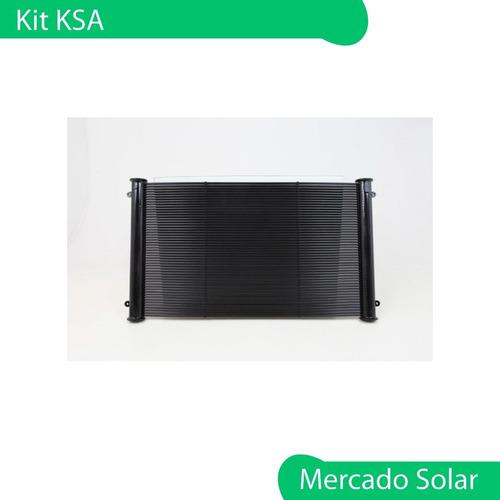 climatizador solar piletas ksd kit completo p/ piscina 24 m2