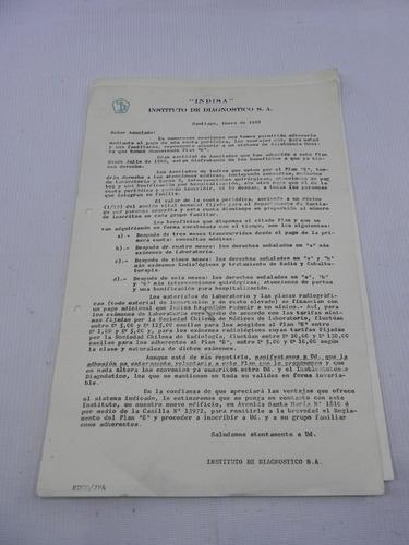 clinica indisa documentos antiguos 1964