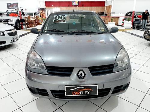 clio sedan expression hi-flex 1.6 16v 4p 2006 cinza completo