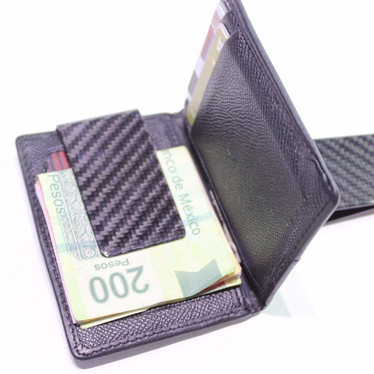 envío gratis f866d 44cca Clip Billetes Money Fibra De Carbono Para Cartera