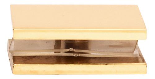 clip cristal-muro crlaurence dorado