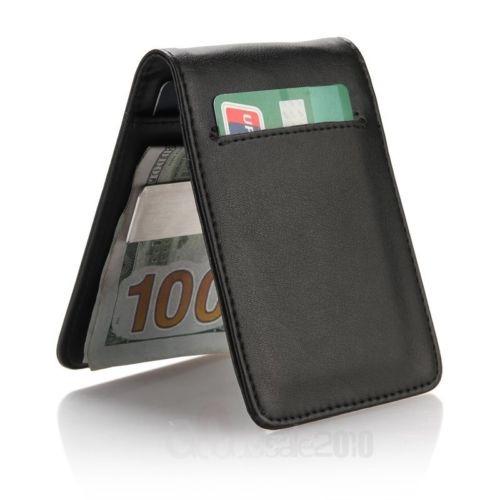 e070808ad Clip De Cuero Para Hombre Dinero Slim Carteras Negro Id - $ 195.990 ...