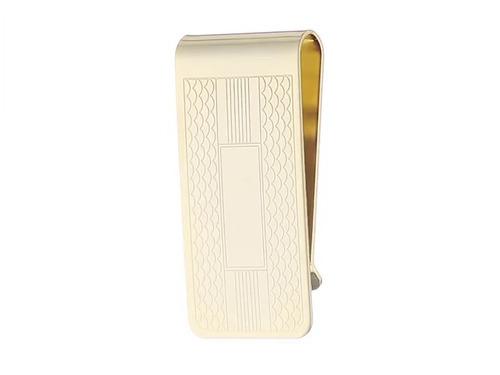 clip de dinero para hombres de status con diseño, dorado, ta