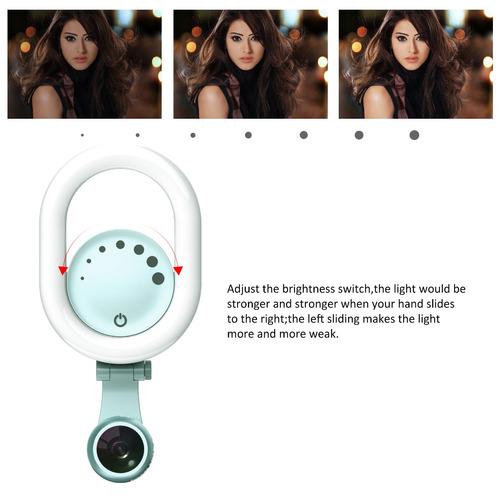 clip de luz de anillo de selfie - luxsure 48 led kit de luz