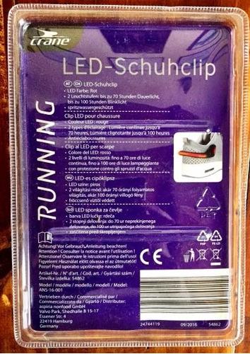clip led para zapatilla running bibicleta