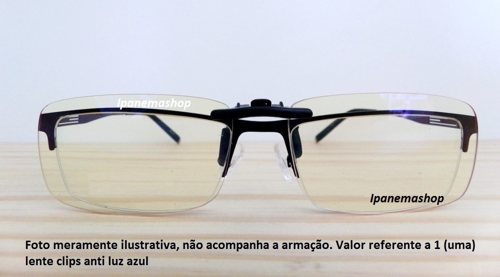 clip lente p  óculos de grau - bloqueia luz azul c  estojo. Carregando zoom. f4f983bc9b