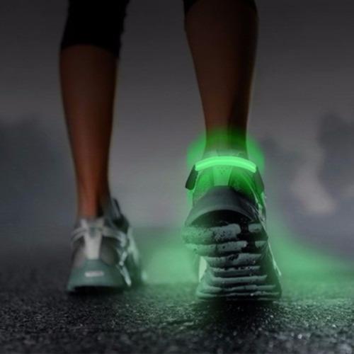 clip luz led zapatillas correr running bici roller flexible