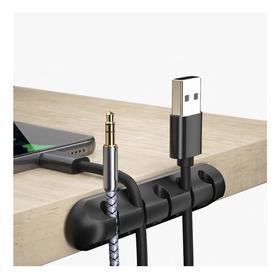Clip Organizador Cables De Silicona Adhesivo Escritorio