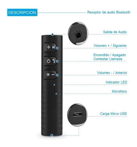 clip receptor bluetooth auxiliar 3.5 manos libres recargable