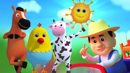 clipes infantis pen drive farmees + galinha + luna + patati