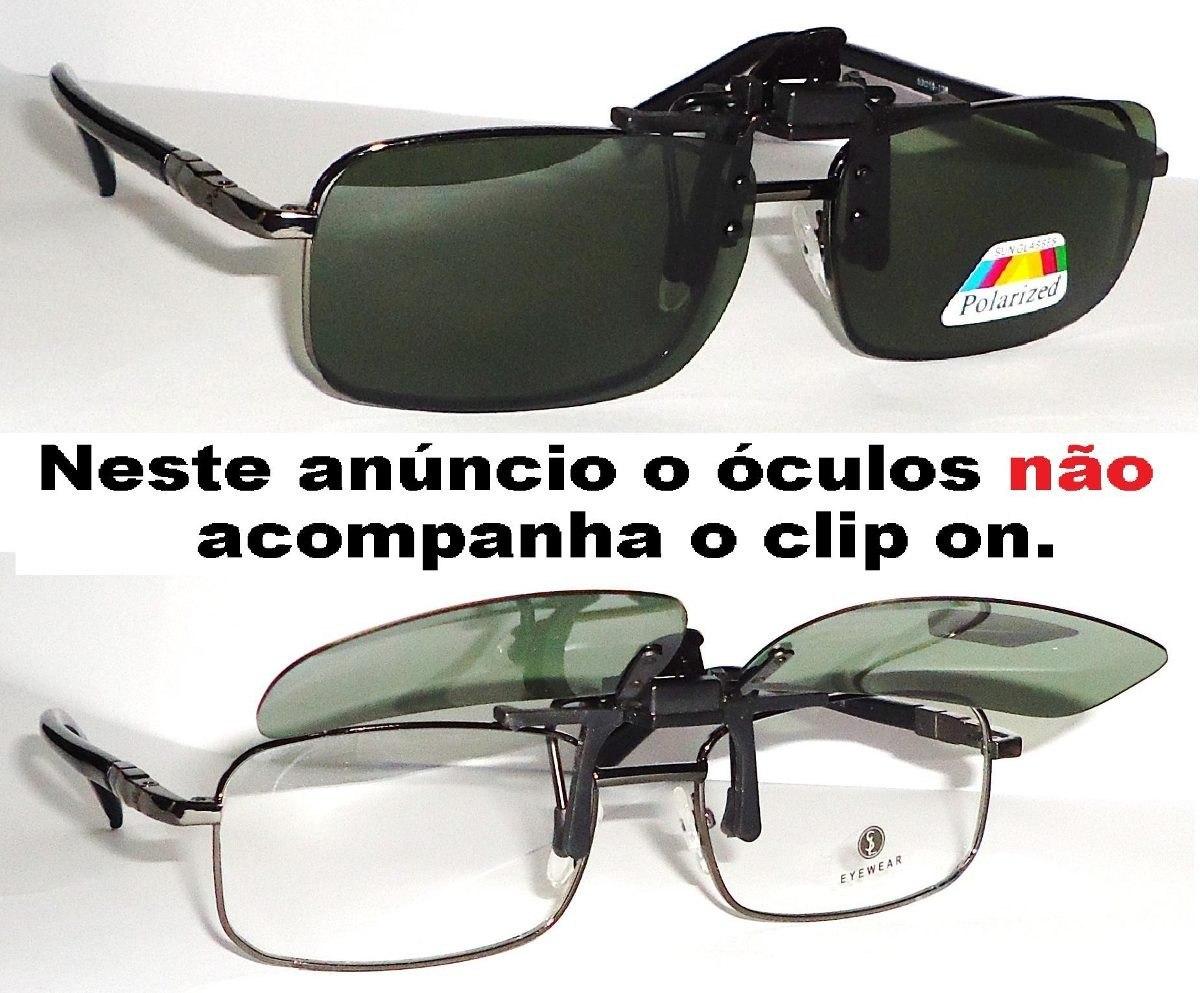 58ab143f1cb2d clipon encaixe para óculos de grau uv400 polarizado clip on. Carregando  zoom.