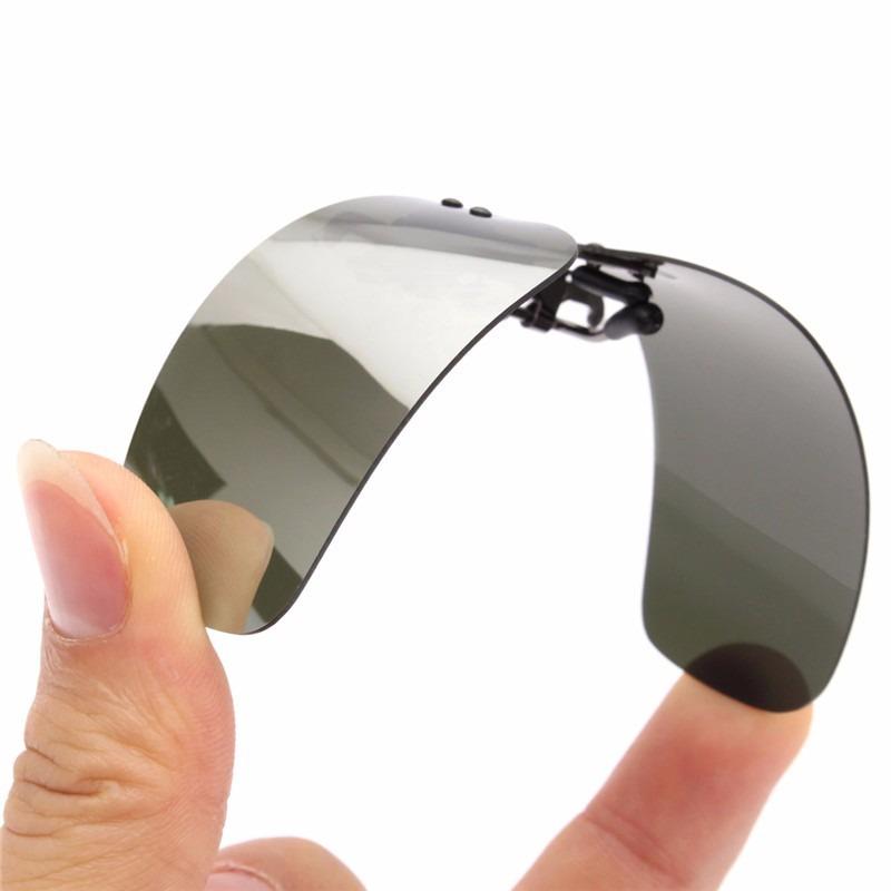8f0298180 clipon encaixe para óculos de grau uv400 polarizado clip on. Carregando zoom .