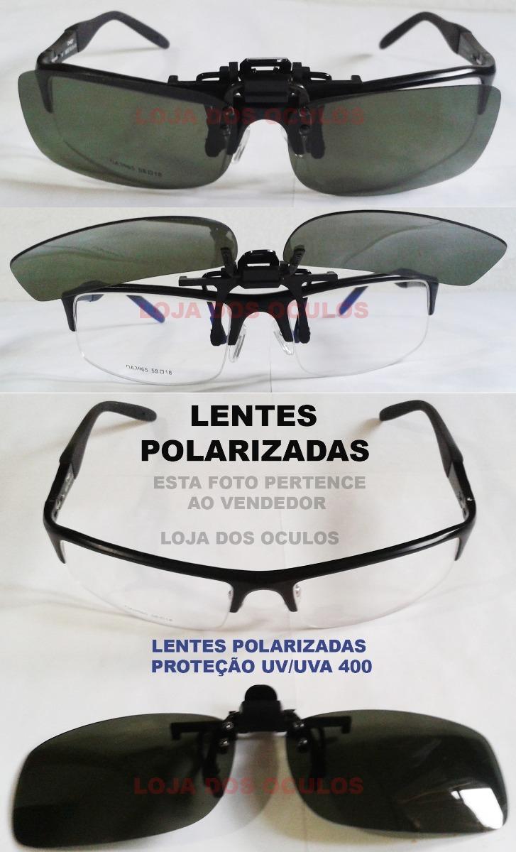 clipon lentes escuras solar polarizadas para oculos de gráu. Carregando  zoom. 4a097290c4