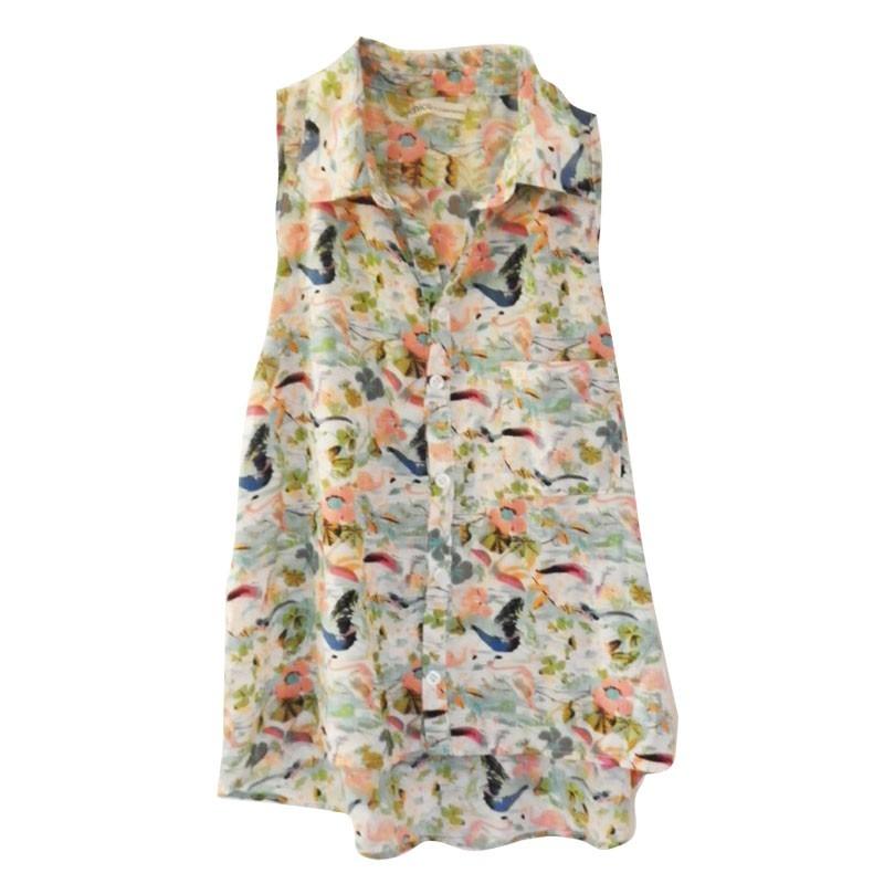356ec0f839d5 Clippate Mujer Camisa Sin Mangas Estampada Envío Gratis