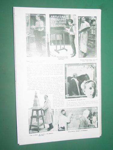 clipping 1 pg. artistas premiados salon nacional arte cuadro