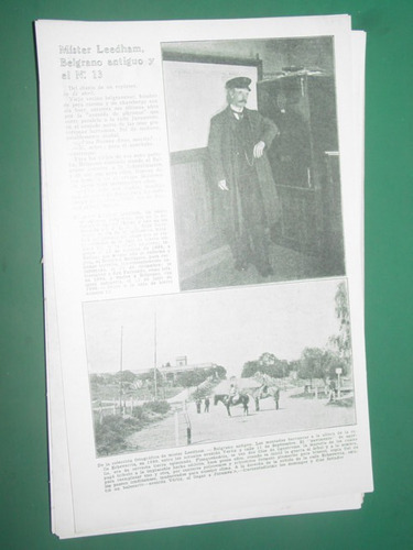 clipping 1 pg. belgrano antiguo esteban leedham fotos