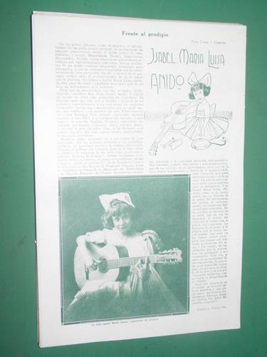clipping 1 pg isabel maria luisa anido guitarra concertista