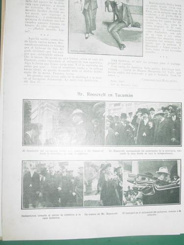 clipping 1/2 pg presidente teodore roosevelt en tucuman