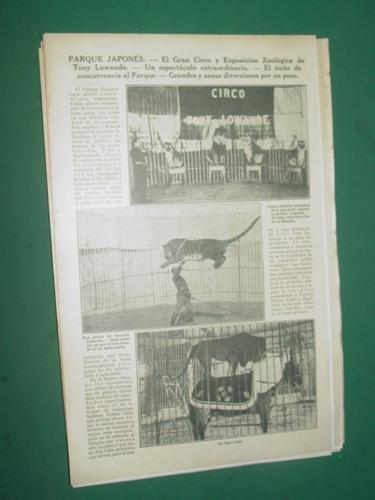 clipping 1pg  parque japones circo expo zoo tony lowande