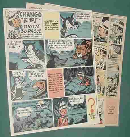 clipping 3 p antiguas historietas chango epi horacio amaya