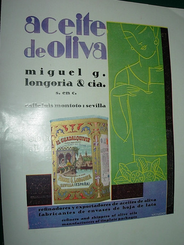clipping antigua publicidad aceite de oliva longoria españa