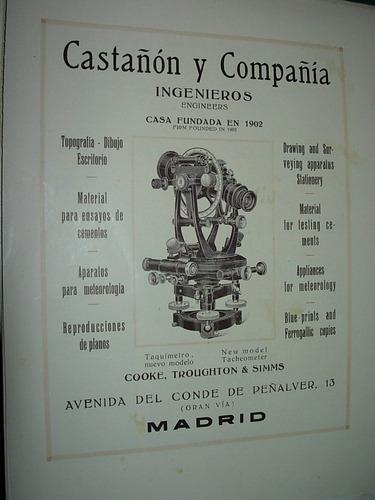 clipping antigua publicidad castañon cia. ingenieros españa