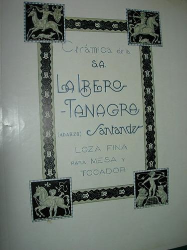 clipping antigua publicidad ceramica ibero tanagra españa