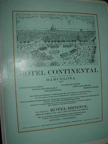 clipping antigua publicidad hotel continental españa barcelo