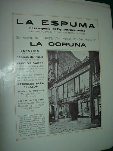 clipping antigua publicidad la espuma articulos novios spain