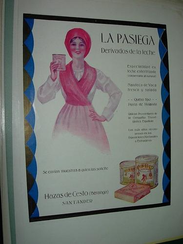 clipping antigua publicidad leche lecheria la pasiega españa