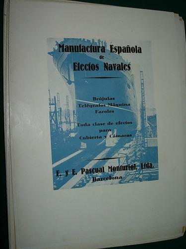 clipping antigua publicidad manufactura española de navales