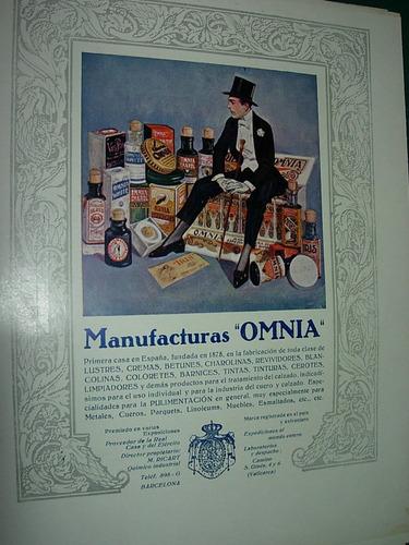 clipping antigua publicidad manufacturas omnia limpiadores