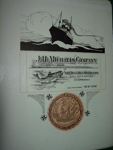 clipping antigua publicidad michaels company usa pescados