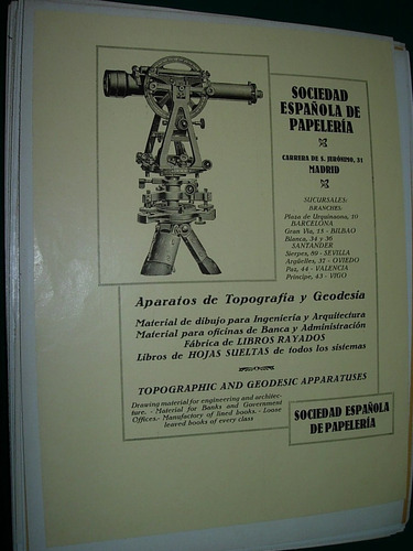 clipping antigua publicidad sociedad española topografia