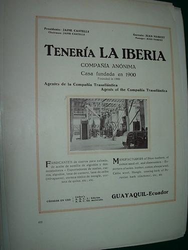 clipping antigua publicidad teneria la iberia ecuador