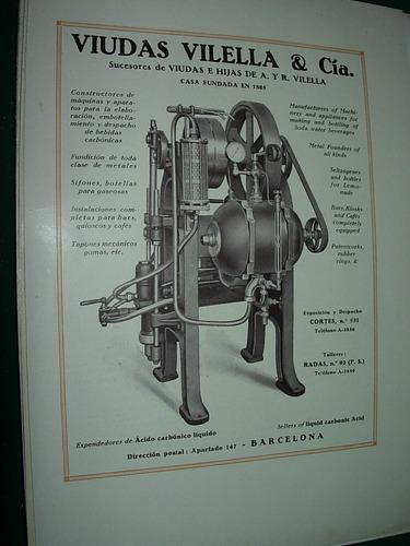 clipping antigua publicidad viudas vilella maquinaria españa